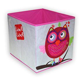 opbergbox roze uil van Label Label