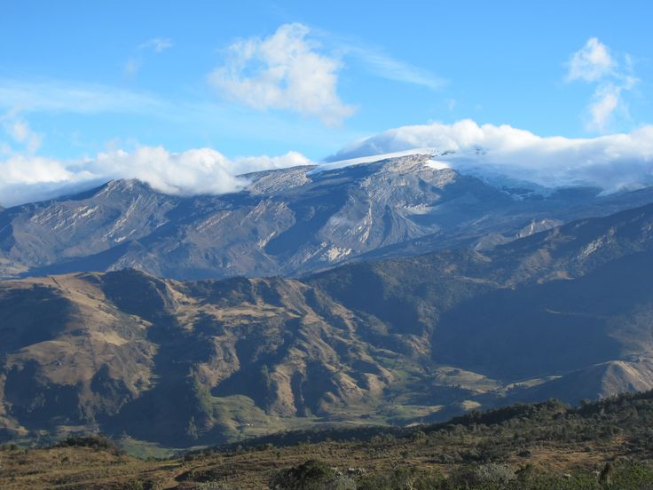 View of mountain range in Colombia