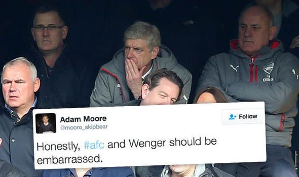 Wenger should be embarrassed! Arsenal fans reflect on woeful performance against Chelsea   via Arsenal FC - Latest news gossip and videos http://ift.tt/2kuM3d8  Arsenal FC - Latest news gossip and videos IFTTT