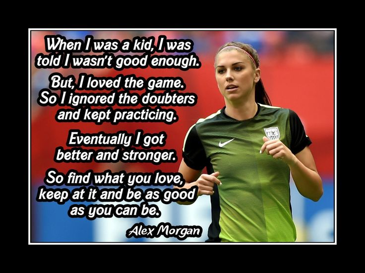 Soccer Motivation Poster Alex Morgan Soccer Champion Photo Quote Wall Art Print…
