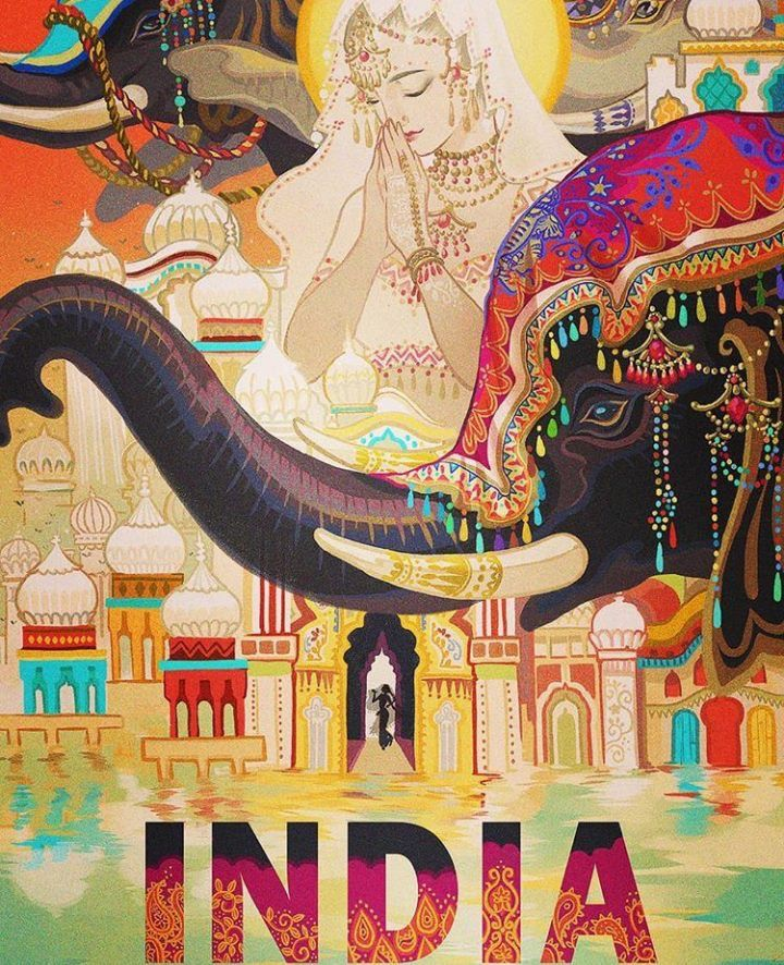 Colourful India India Poster Incredible India Posters Vintage India