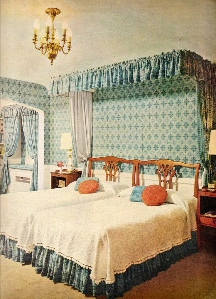 Glamorous bedroom  1957  note the two single beds. 182 best 1950s Bedroom images on Pinterest   1950s bedroom