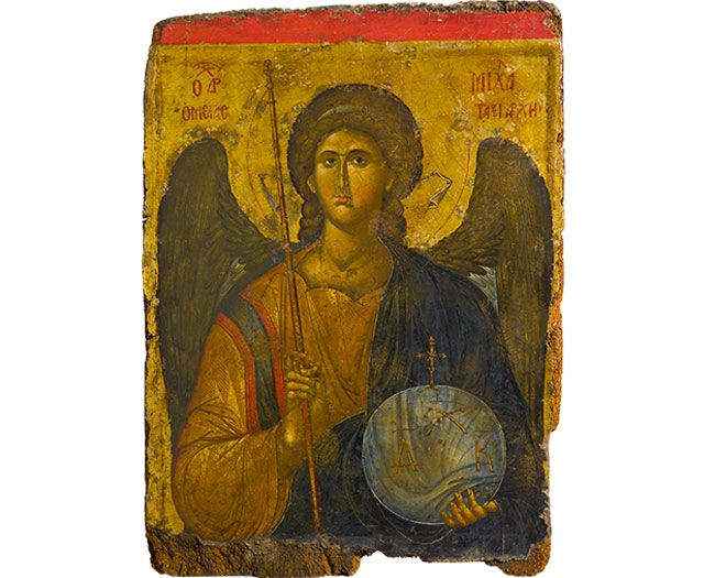 Archangel Michael  he who is like god Heaven and Earth: Art of Byzantium from Greek Collections (Getty Villa Exhibitions)