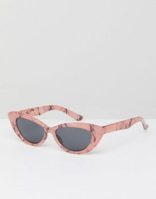 e9a5ed63d6 Image 1 of ASOS Small Pointy Cat Eye Sunglasses