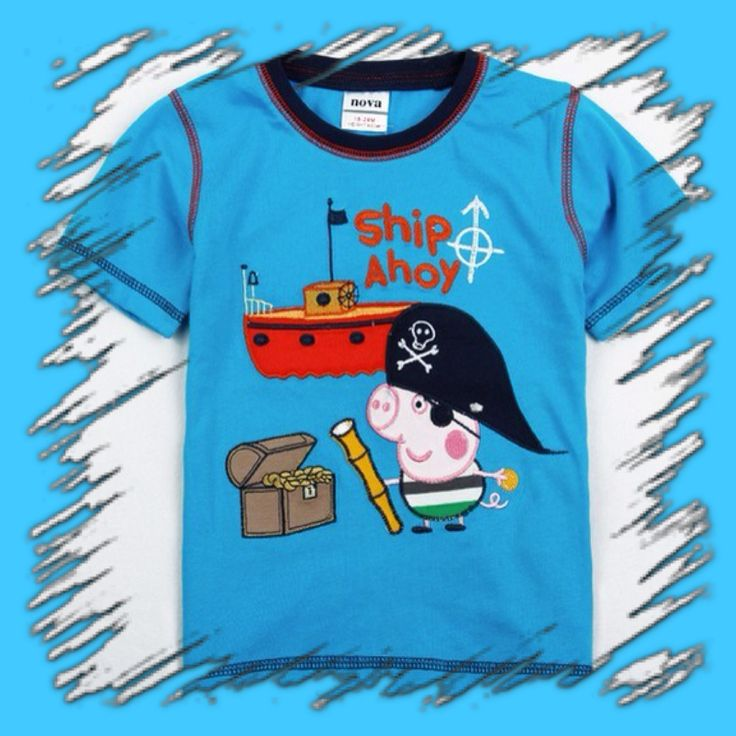 Boys Peppa & George Shirt - arriving this week 12th Oct. Sizes available please visit page.  https://www.facebook.com/SticktocraftsHairAccessories?hc_location=timeline