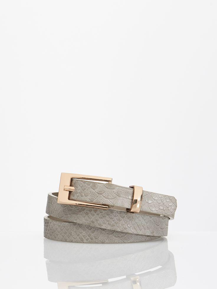 Grey belt with animal print  KM030-90X  #mohito #fashion #animalprint