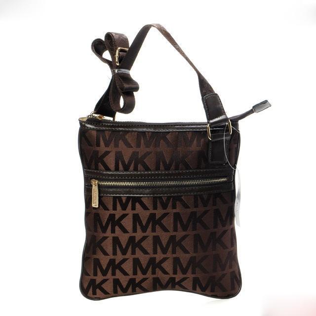 Michael Kors Swingpack Crossbody Bag Purple/Black