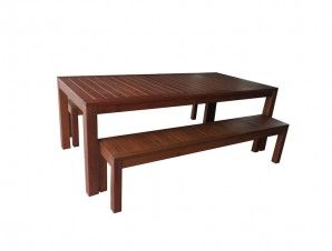 Timber 3 Piece Bench Setting - Premium Patio Furniture