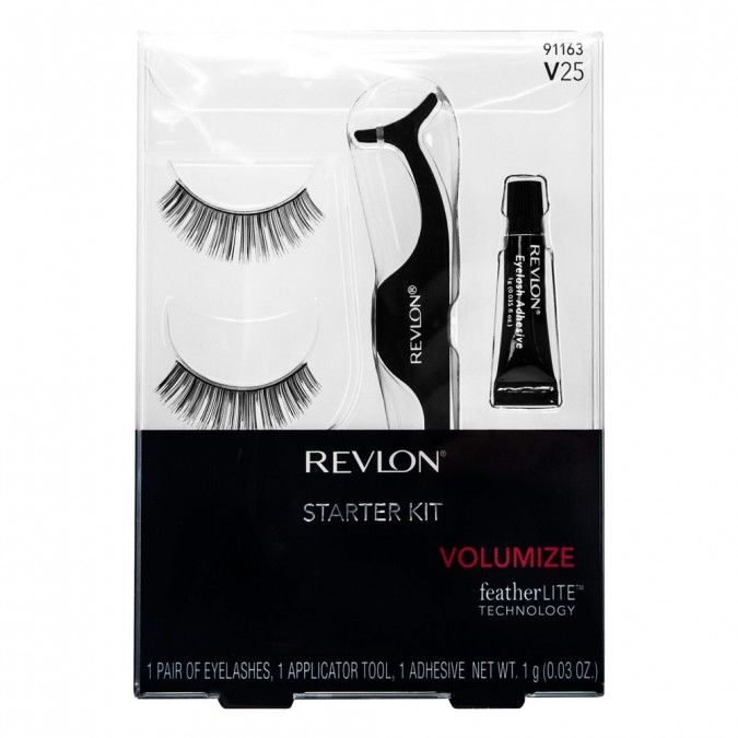Revlon Starter Kit contains everything needed to master lash application, 1 pair of lashes, innovative lash applicator and glue.