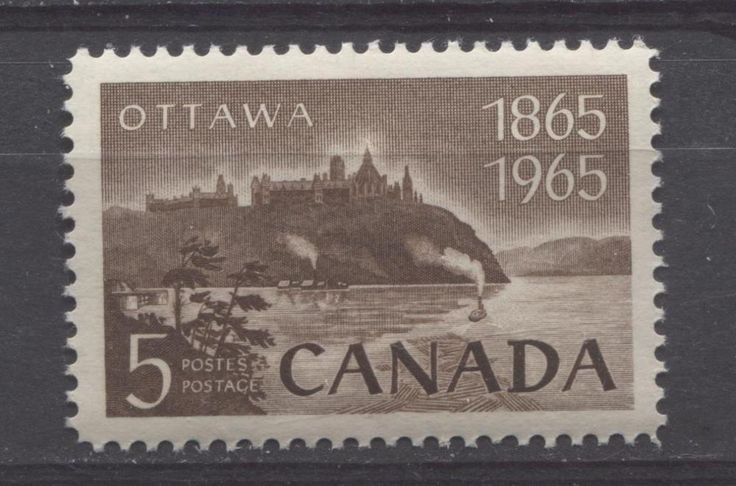 This stamp, issued for the 100th Anniversary of the founding of the city of Ottawa, shows the parliament buildings overlooking the Ottawa River.