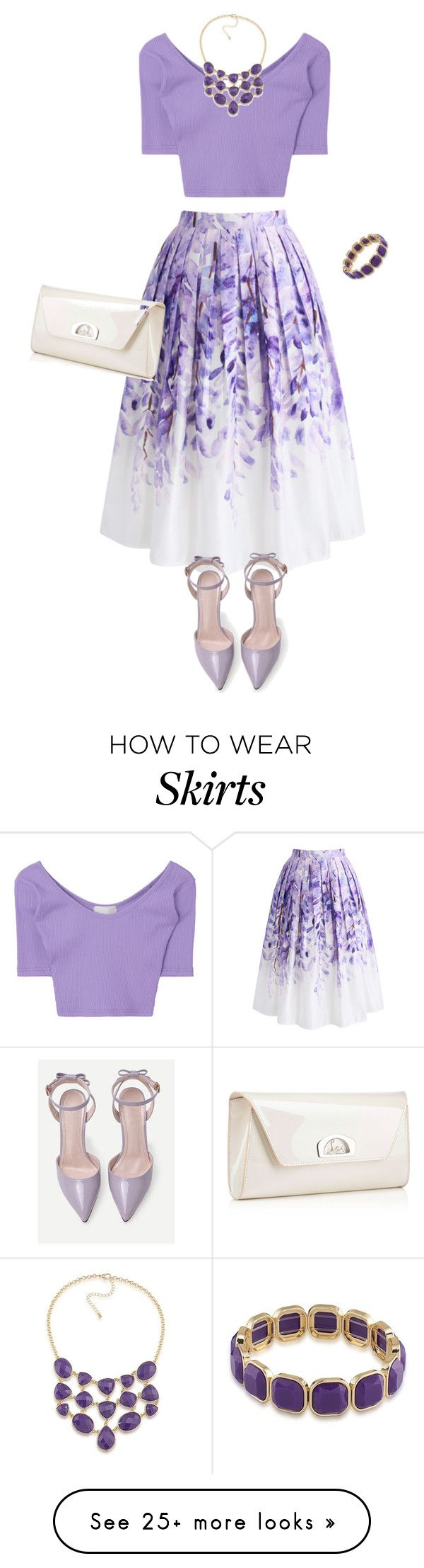 """outfit 6138"" by natalyag on Polyvore featuring Chicwish, 1st & Gorgeous by Carolee and Christian Louboutin"