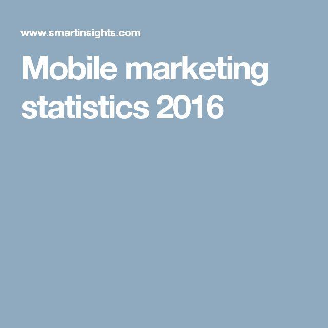 Mobile marketing statistics 2016