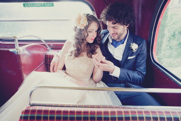 London Routemaster bus wedding