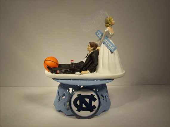 basketball wedding cake toppers college tar basketball carolina wedding cake 11106