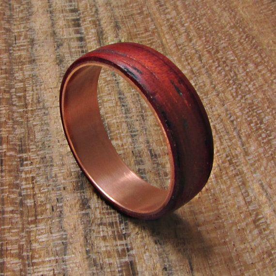 Custom Copper Ring Band For Men Women Wood Grain Finish Choose Your Width Copper Wedding Ba Copper Wedding Band Mens Wedding Rings Wooden Rings Engagement