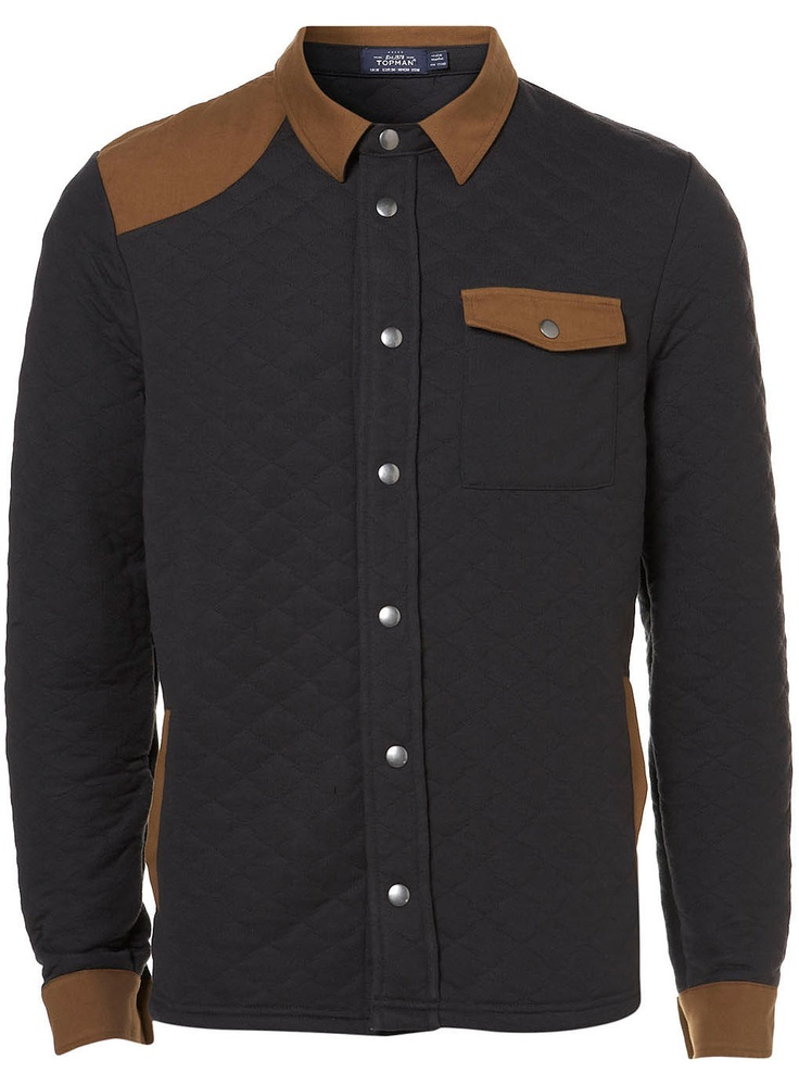 Black Quilted Jersey Jacket: Men S Fashion, Mens Fashion, Jackets, Color Black, Fashion Trends