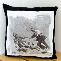 Create a unique pillow with photo transfer.  Full tutorial!