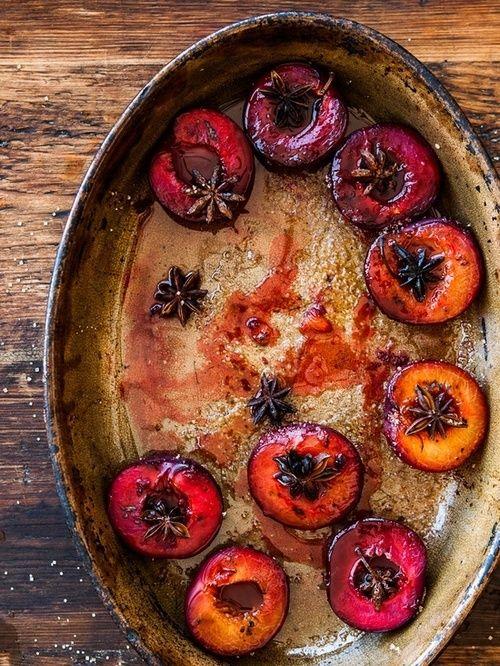 Roasted Spiced Plums :  williams-sonoma #recipe