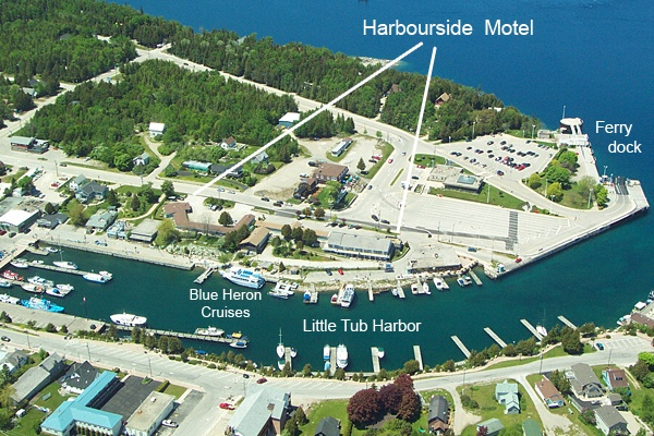 Harbourside Motel location