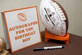 A good idea for a boys football party