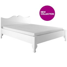 Louis low bed frame in white