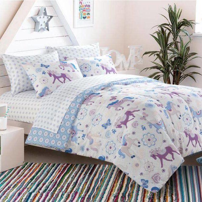 Heritage Kids Bed in a Bag Toddler Comforter Set in Pretty Horses & Reviews | Wayfair