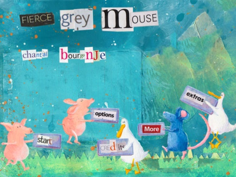"""Like this style. App """"Fierce Grey Mouse HD"""" for children on iPad."""