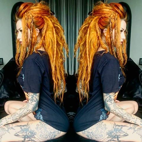 Fire hair Orange dreads LOVE it                                                                                                                                                                                 More