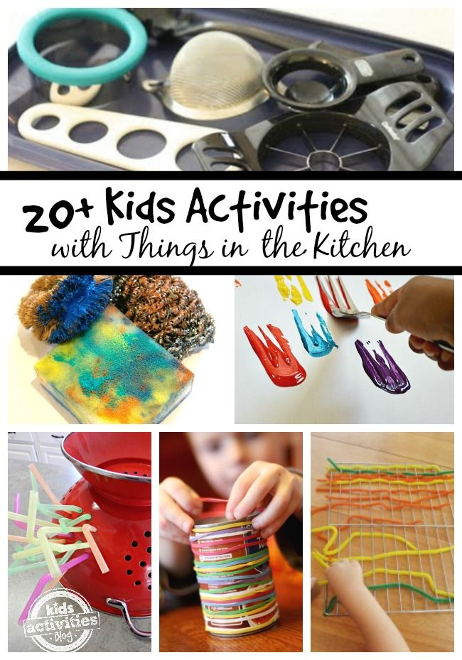 Play ideas with kids in the kitchen; keep your kids busy when it's too hot to go outside
