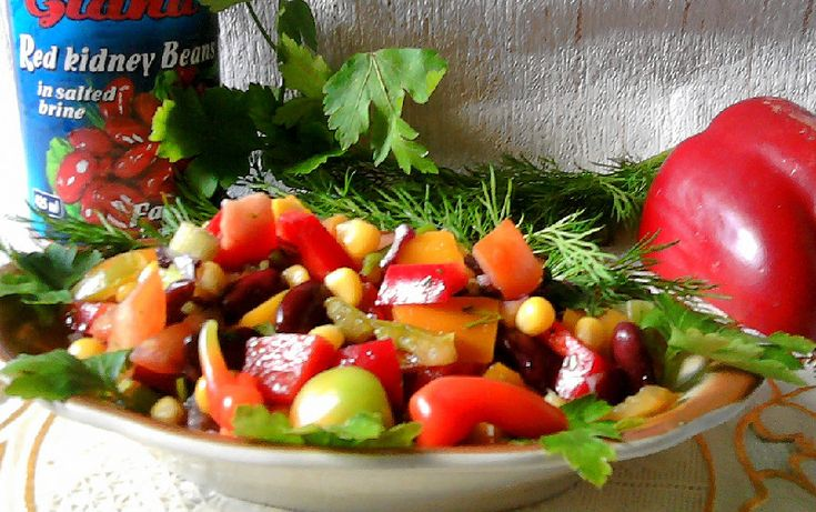 Кулинария мексинанский салат