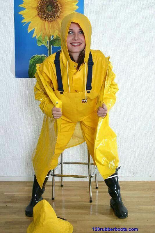 Yellow rainsuit