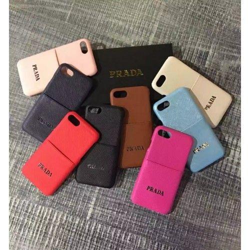 ブランドPRADA 高級 カード入れ iphone7/iphone7plus 保護カバーiPhone6s/6splus 人気ケース高級革製 女性向け