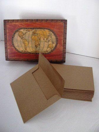 Papier Kraft est un produit écologique recyclé ! Ces enveloppes sont parfaits pour les éco-conscient invitations ou cartes de correspondance:)