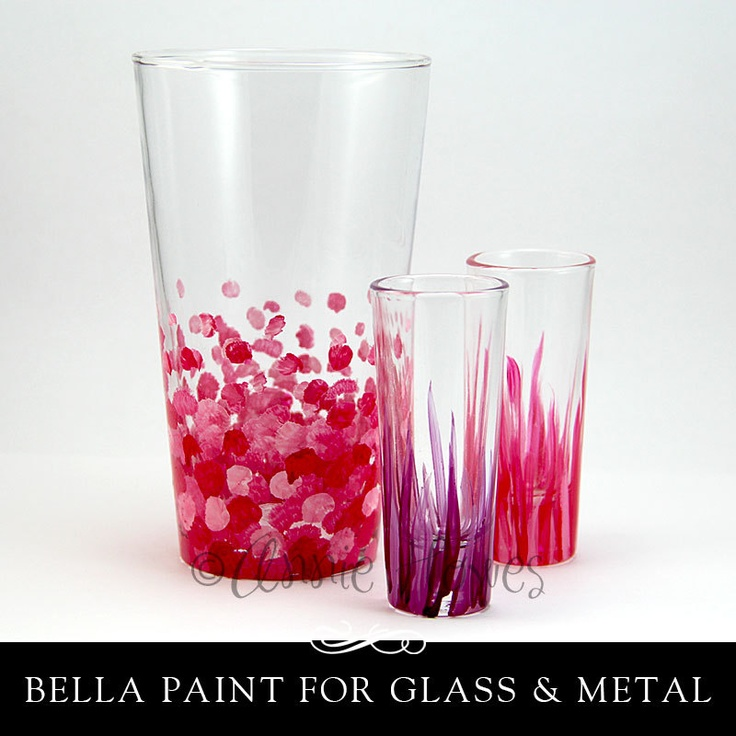 Annie Howes - Bella Paint for Glass and Metal. Opaque Glossy Paint, Heat Cured. Single 2 oz. Jar.