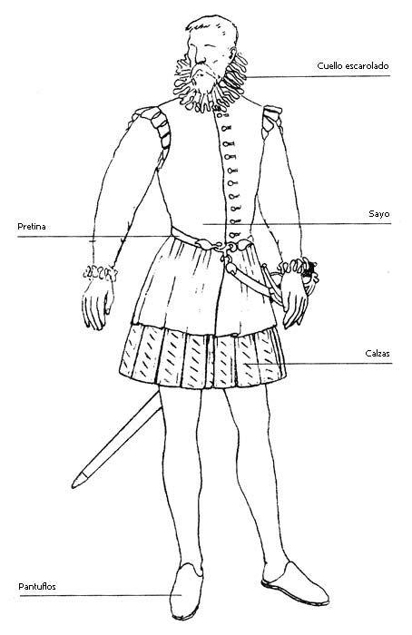 Don Quijote vestido de fiesta.