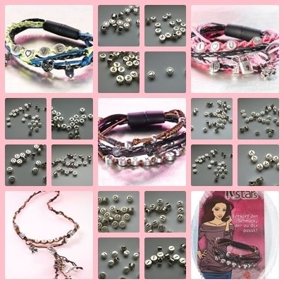 Buchstabenperlen echte Metall Buchstaben Perlen von Die Geschenkidee auf DaWanda.com