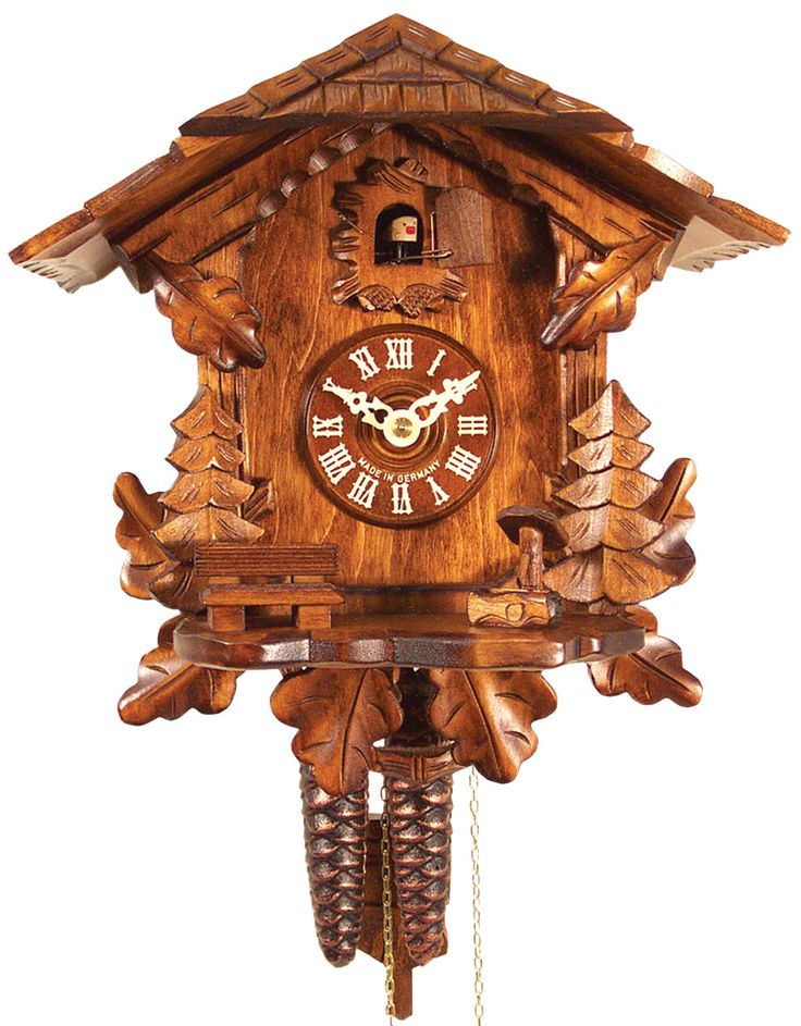 Features: -Scenic detail. -Clock is one day weight driven and sings on both the half hour and the hour. -Offers 24 hour movement and a one year guarantee. Product Type: -Analog/Cuckoo. Shape: -No