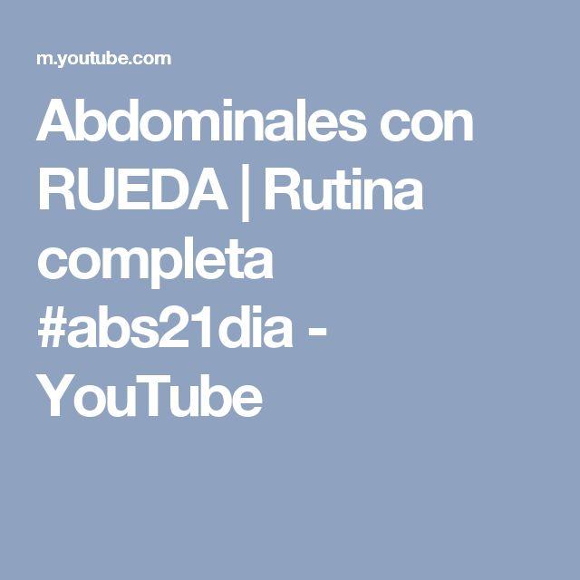 Abdominales con RUEDA | Rutina completa #abs21dia - YouTube