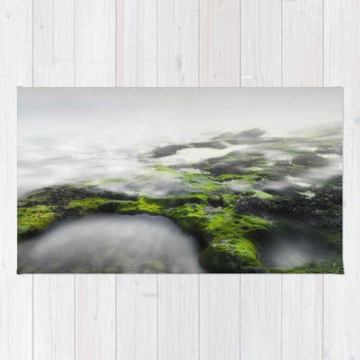 Buy Area & Throw Rugs with design featuring I can hear you whisper by xiari_photo and adorn your home with both style and comfort. Available in three sizes (2' x 3', 3' x 5', 4' x 6'). moss, mist, fog, whisper, landscape, photo, photography, long exposure, photographer, natural , nature, sea, white, gray, dark, exposure, explore, sea, beach, waves, light, green, moss, ocean, clouds, sky, horizon, digital, interior design, home decor, duvet cover, bedroom, home style, xiari, wall art, wall…