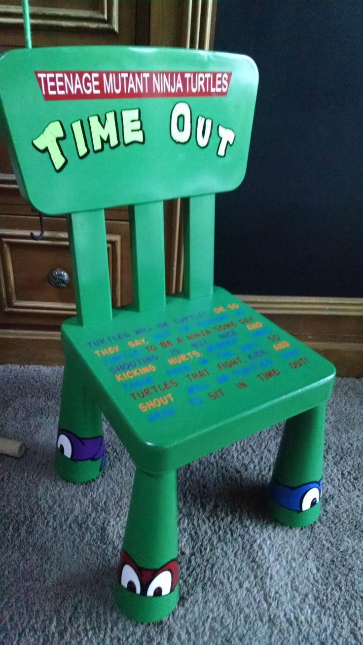 Teenage Mutant Ninja Turtle Time Out Chair by FromMyPaintedHeart on Etsy