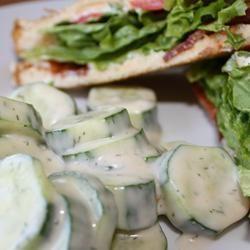 Cucumber Salad- just made it with fresh garden cucumbers! Soooo good ...
