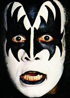Best 25 gene simmons makeup ideas on pinterest kiss for Kiss mask template