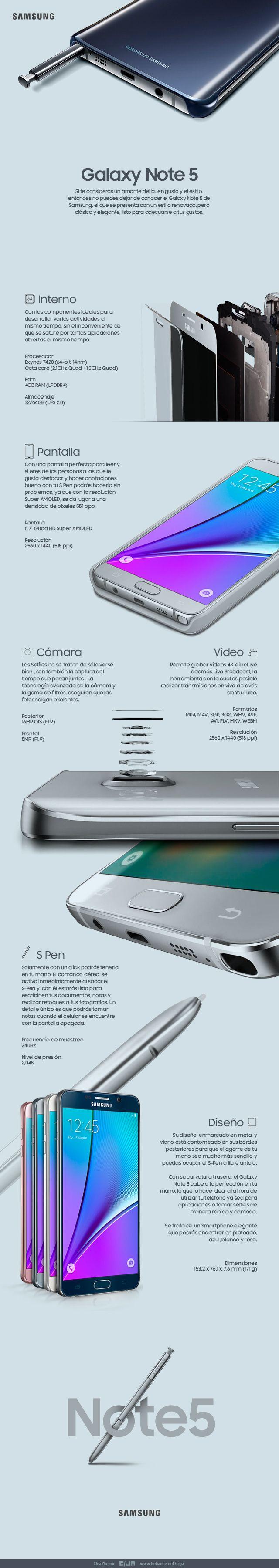 Samsung Galaxy Note 5 infografia infographic