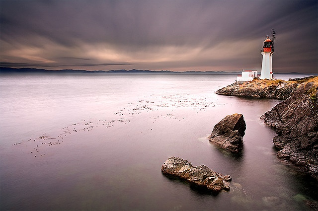 Sheringham Point Lighthouse, near French Beach. Vancouver Island.