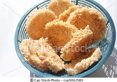 Traditional food called rengginang