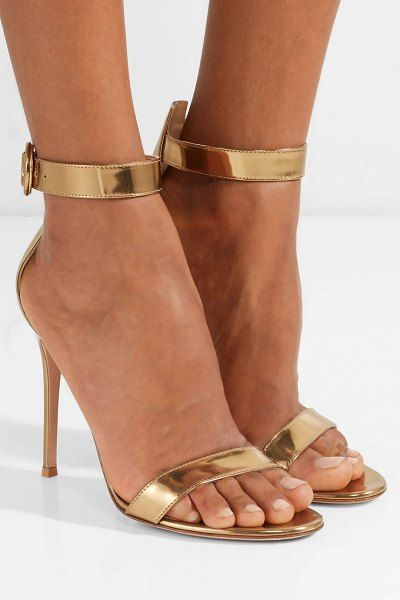 68bc23dedab3 Gianvito Rossi portofino 105 metallic leather sandals.  gianvitorossi