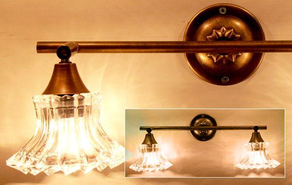 מנורת קיר כפולה