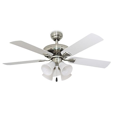 52-Inch Federal Hill 4-Light Brushed Nickel Ceiling Fan