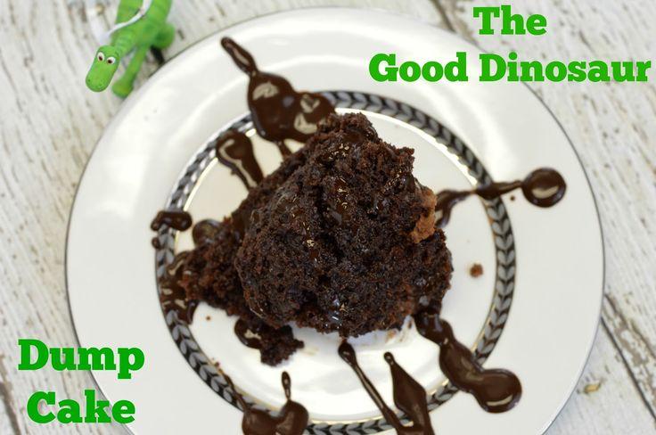 The Good Dinosaur Dump Cake: Crockpot Chocolate Dump Cake Recipe #GoodDinoEvent