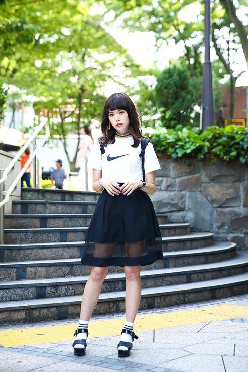 ストリートスナップ原宿 - 犬伏 舞さん - JAN SPORT, NIKE, ジャンスポーツ, ナイキ